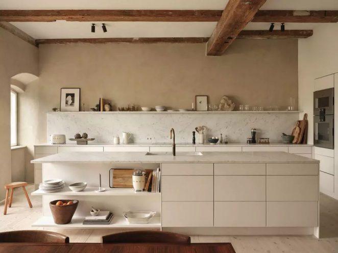 beige kitchen wall