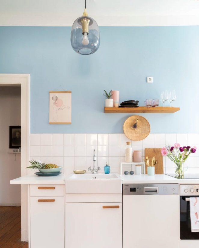 Sky blue Paint Colors for Kitchen