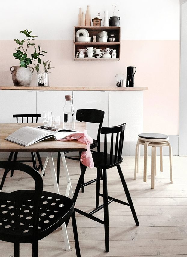 nude pink Paint Colors for Kitchen
