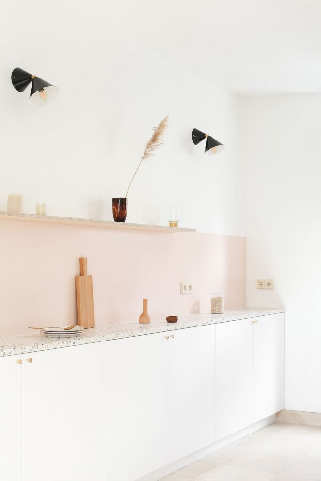 pink Paint Colors for Kitchen