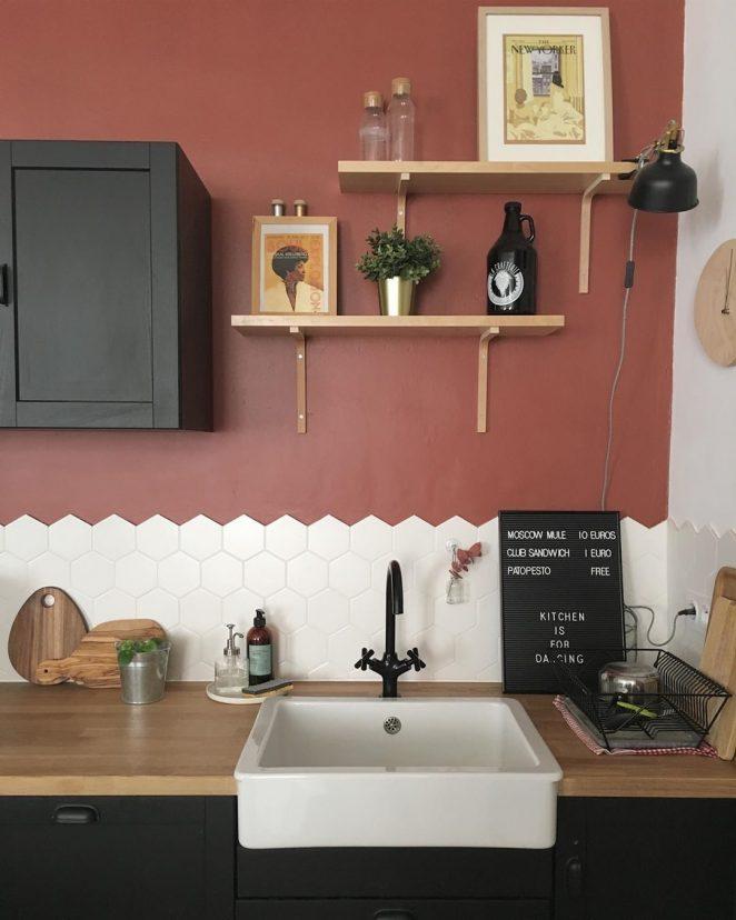 terracotta kitchen