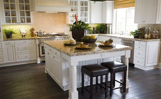 Modern Kitchen with a hardwood floor
